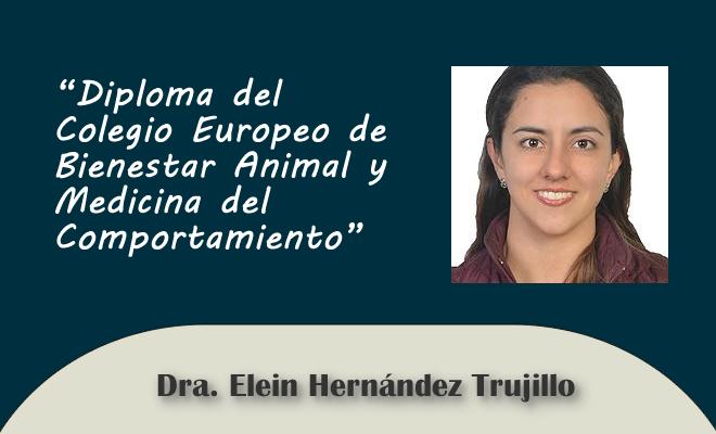 Diploma del Colegio Europeo de Bienestar Animal y Medicina del  Comportamiento